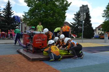 Soutěž mladých hasičů O pohár Malé Hané vpožárním útoku