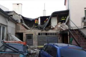 V Litovli explodoval plyn v rodinném domě. Zranil člověka