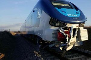 Hrozivě vypadající nehoda na kolejích. Nikomu se nic nestalo