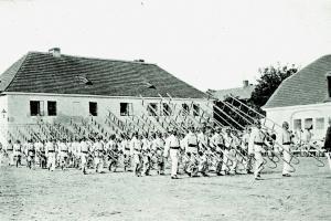 Cvičení hasičů z Vysočan