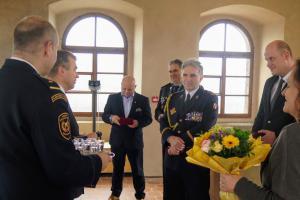 Pražští hasiči slavili narozeniny sboru ve vodárenské věži