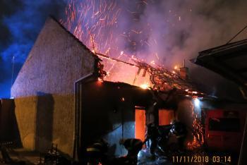 V Olomouci vyhořela střecha objektu bistra, škoda za 650 tisíc (VIDEO)